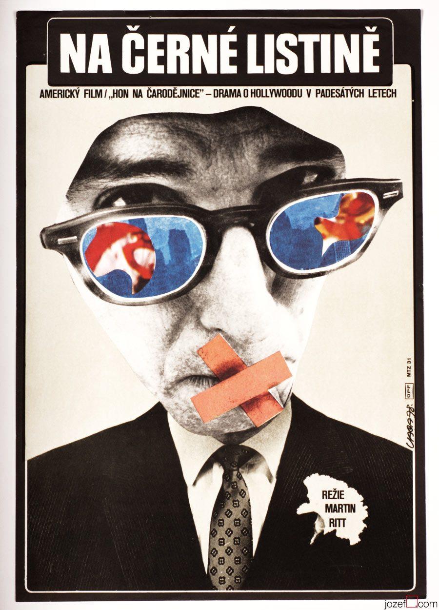 Woody Allen poster - Poster Design by Karel Vaca, Original 70s Poster
