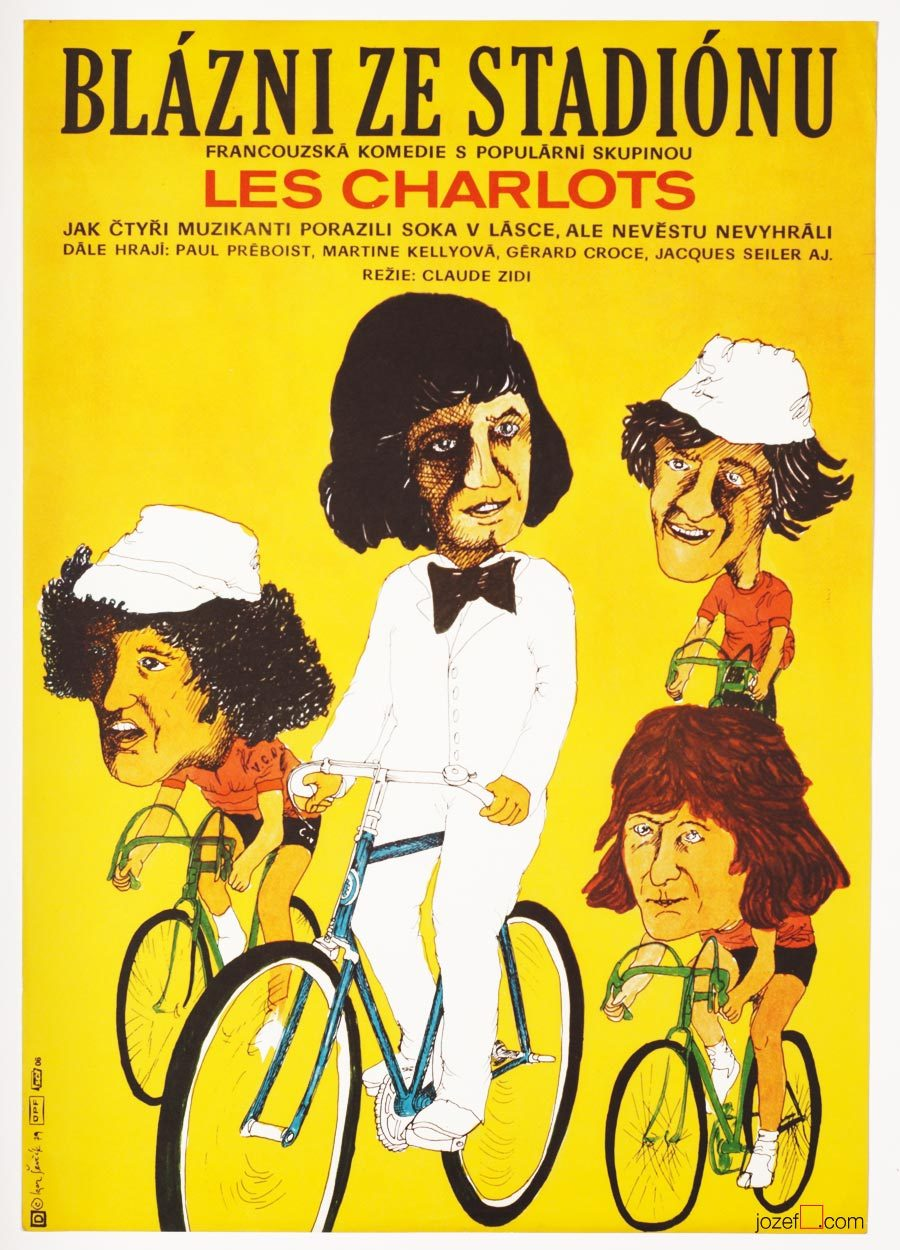 Stadium Nuts, Cycling Poster, 70s Movie Poster