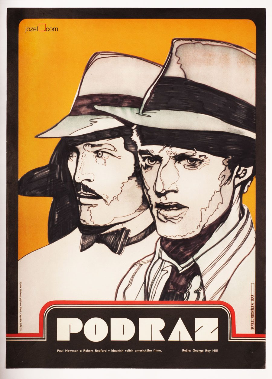 Sting Poster, Paul Newman, Robert Redford, Vintage poster
