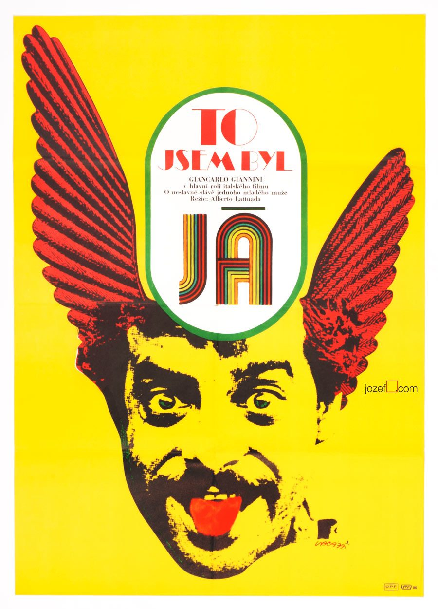 Movie poster for Italian comedy, 70s Poster