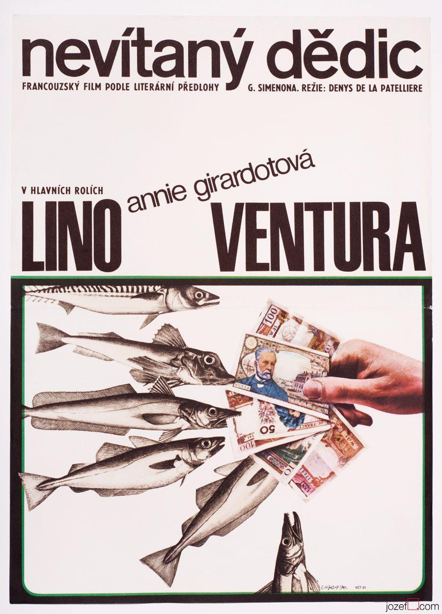 Emile's Boat, Lino Ventura, Movie Poster