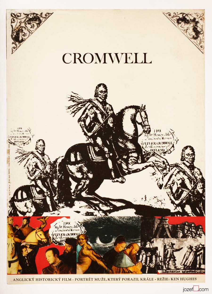 Cromwell, Movie Poster, 70s Poster Art