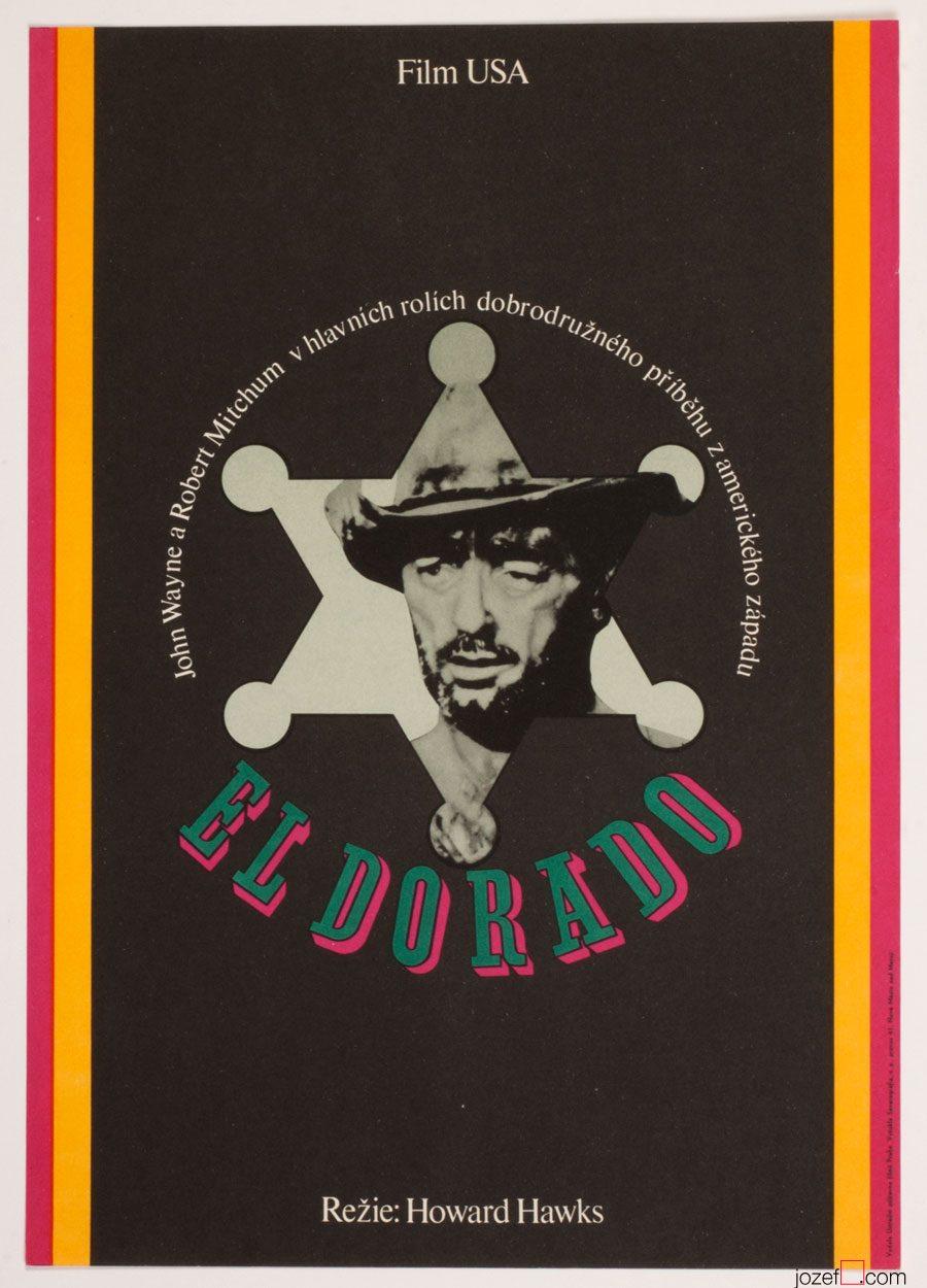 El Dorado, John Wayne, Wester Movie Poster